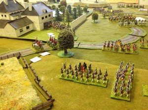British allies advance to support Cavalry