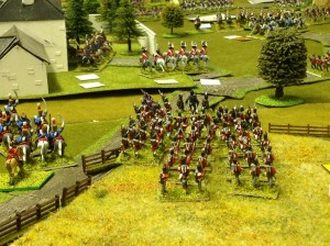 in the fore ground 2nd dragoons reach the Villa