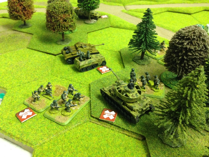 German combined arms finally flushed out any russian resistance on the left