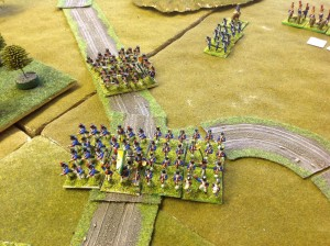 French Infantry secure the junction and await support