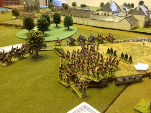 Rifles advance ahead of the main column