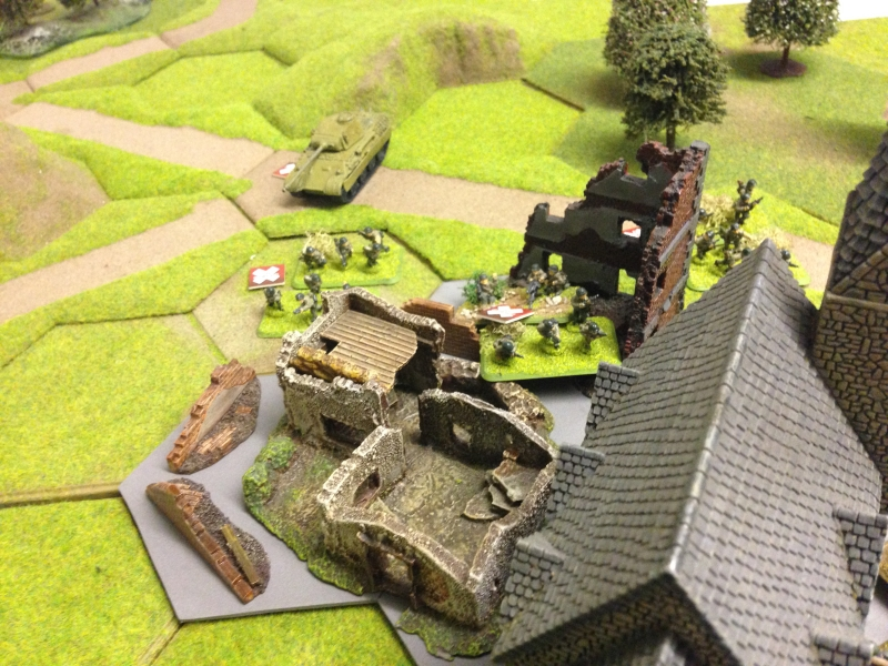 German mechanized troops finally take the outskirts of the town